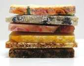 Soap Sampler - 6 Slices olive oil handmade soap in pretty cello bag + ribbon -Great for travel or the guest bath