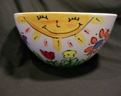 Salad Bowl hand painted