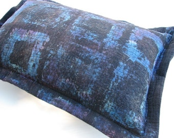 Blue Pillow Cover Flange Pillow Cover with zipper OOAK