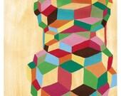 Curious Cubes Print