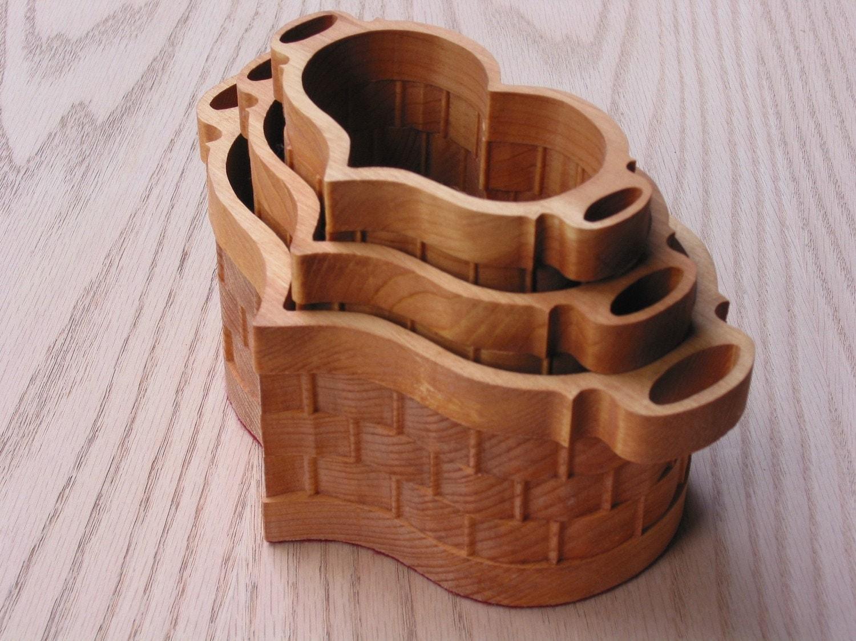 Handmade Heart Basket : Heart basket set handmade