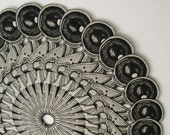 Mandala/Etching/Assemblage/Ice Scream Scooper/Limited Edition/One of a Kind/FREE SHIPPING