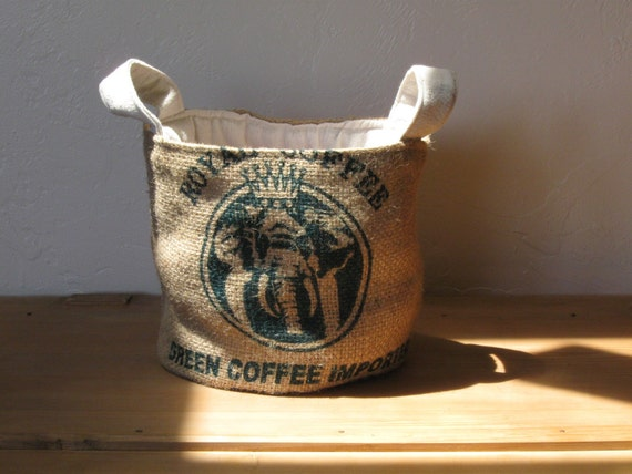 Upcycled Coffee Bag Tote Eco Friendly