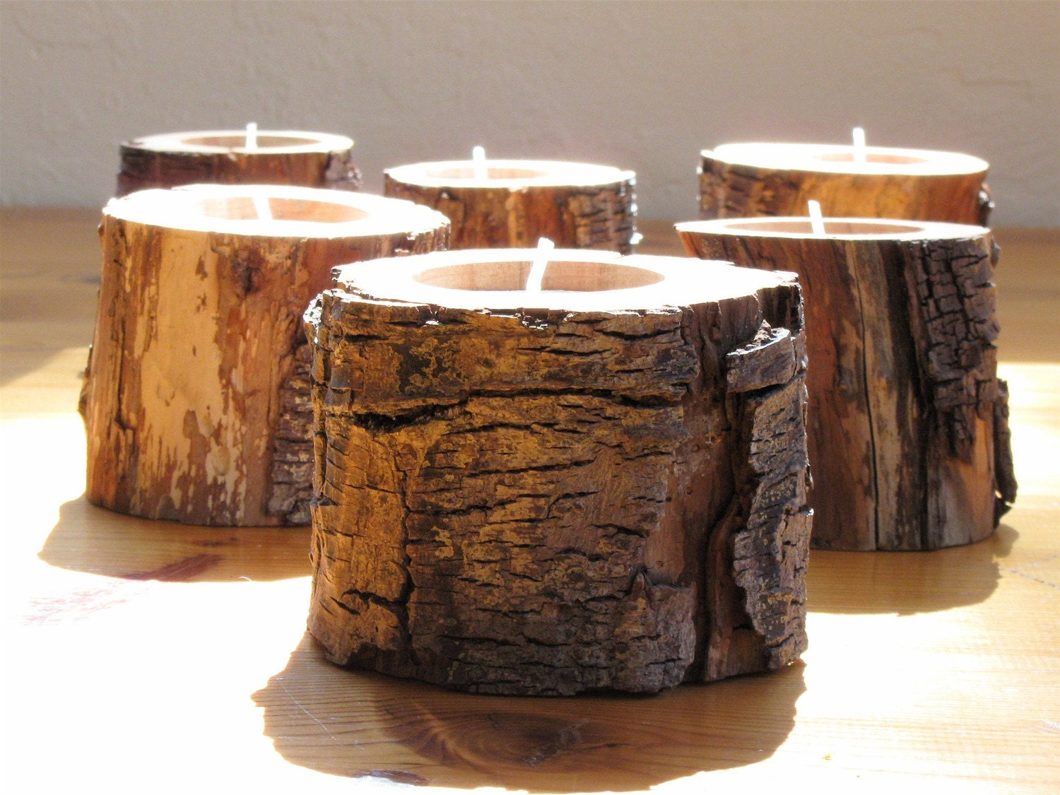 6 woodland driftwood candle holders eco friendly home decor Environmentally friendly decorations
