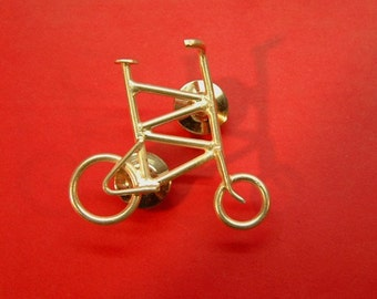 Sterling Silver Tall Bike Pin