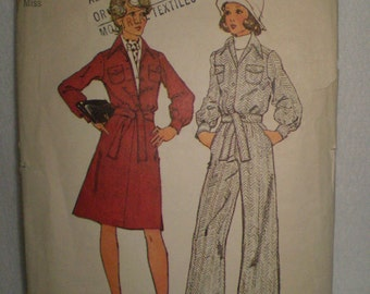1970s VINTAGE pattern Simplicity 5891 size 12 bust 34 misses unlined jacket, skirt and pants