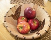 Birds in a Bowl Pyrography