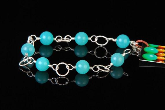 Jewelry Bracelets Beadwork - Jade Bracelet - Wire Wrapped Bracelet
