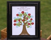 Personalized Teacher Appreciation Tree - 8x10 Print (YEAR UPDATED TO 2013-2014)