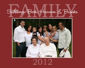 8x10 Personalized Print - Family