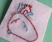 Stitched Heart Brooch SALE ITEM