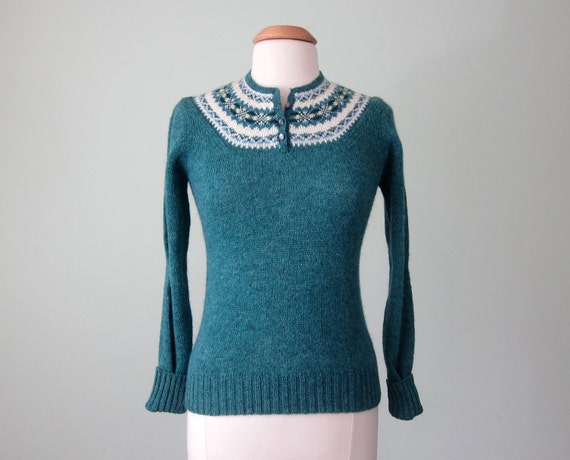 70s wool ski sweater (xs - s)