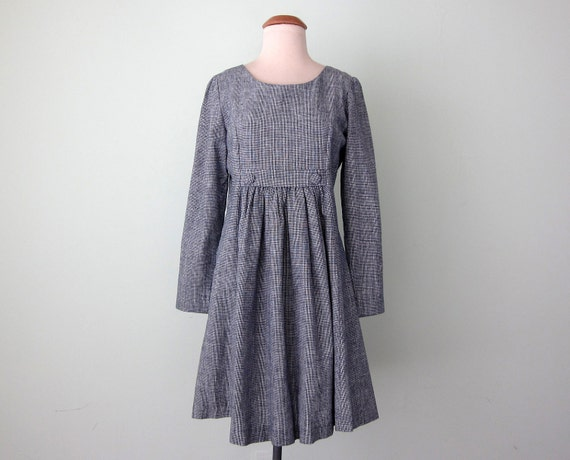 80s dress / cotton smock mini (s - m)