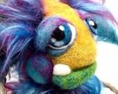 Custom Made for you  Woolie Wog Goblin Needle felt fantasy Wool fiber soft sculpture doll MADE TO ORDER