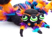 Made to order: OOAK Fantasy Arachnid  Spider Needle Felted Soft Sculpture Art Doll Wool Plush