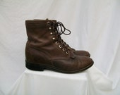 Brown Distressed JUSTIN Lacer Cowboy Boots Mens size 6 Ladies size 8 to 8.5