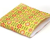 Reusable Sandwich Baggie- Riley Blake Fabric, Summer Song, Yellow Summer Flowers