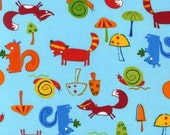 Reusable Sandwich Baggie- Animal Party Too, Woodland Animals in Summer