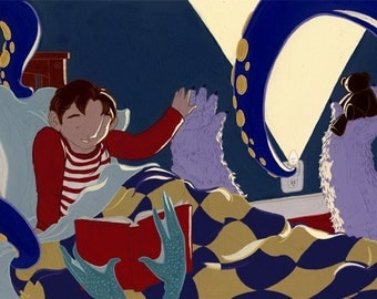 illustration: what if... you were friends with the monsters under your bed
