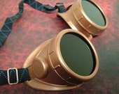 Steampunk Goggles Copper Victorian Science Fiction Handmade Costume Glasses Accessory