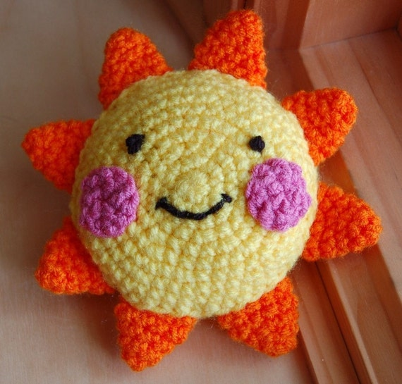 You Are My Sunshine Stuffed Toy in Yellow and Orange