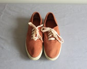 vintage SEPIA canvas sneakers / NOS flats 6