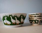 Waechtersbach Ducks Bowl Set