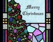 Custom Glitter Christmas Tree