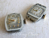 Vintage Ladies Wrist Watch Parts for use in Steampunk Jewelry by avintageobsession on etsy