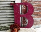 RESERVED LISTING for bubu800...Initial B Letter B vintage Metal Sign by avintageobsession on etsy