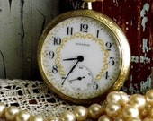 RESERVED LISTING for amiwood3...Antique American Waltham Fancy Face Pocket Watch by avintageobsession on etsy