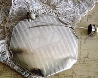 Silverplate Perfume Holder Art Deco by avintageobsession on etsy