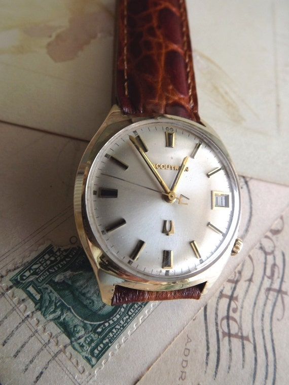 Vintage Bulova Accutron Mens Wrist Watch Working by avintageobsession on etsy