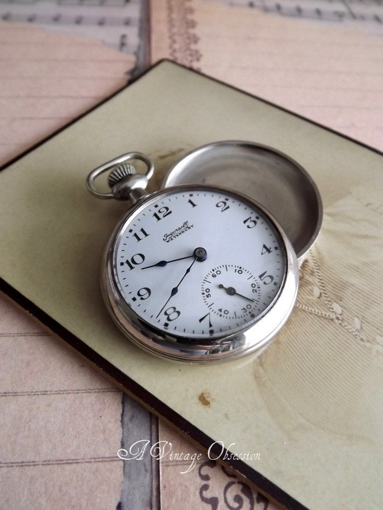 antique ingersoll pocket by avintageobsession on etsy