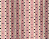 Library Stripe fabric, Denyse Schmidt fabric, cranberry pink yardage, stripes and polka dots, choose size of cut