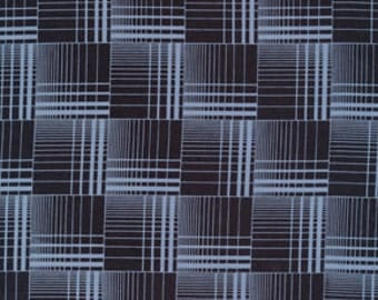 Denyse Schmidt fabric, Griswold Plaid in blueberry, Greenfield Hill, blue and black, fat quarter, supply