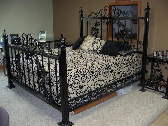 victorian wrought iron king size bed setmetalmastersinc