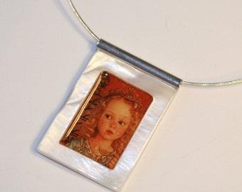 Little Princess OOAK Art Collage Necklace