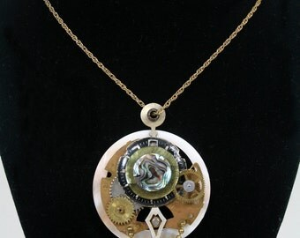 Clockworks - Steampunk Art Necklace