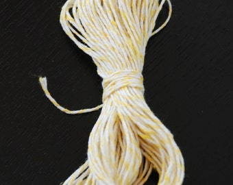 Bakers Twine - Yellow and White (25 yards)