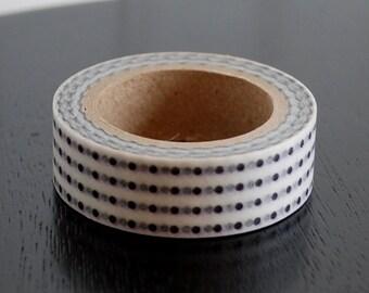 Washi Tape - Black Dots - 15mm (1 roll)