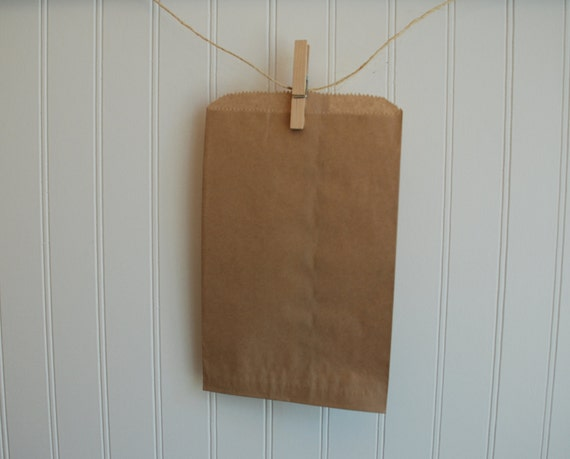 "Kraft Brown Merchandise Bags - 6.25"" x 9.25"" (Set of 50)"