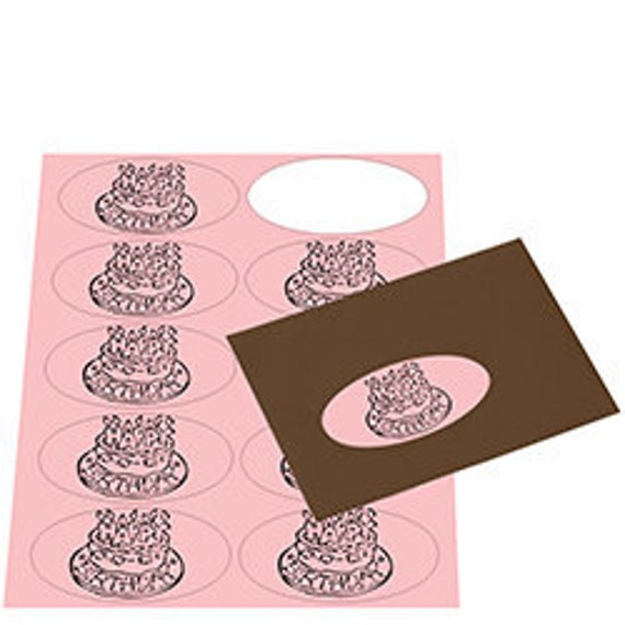 Blank Oval Labels - Blossom Pink (Printable Sheets)
