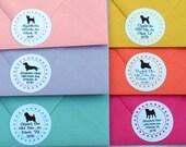 Polka-dot Dog Address Labels (set of 30)
