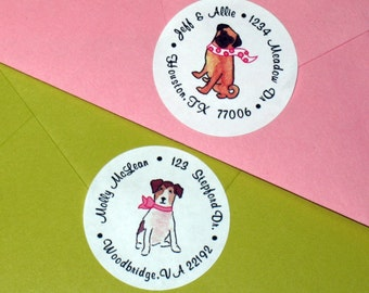Personalized Dress Your Pooch Return Address Labels (Set of 30)