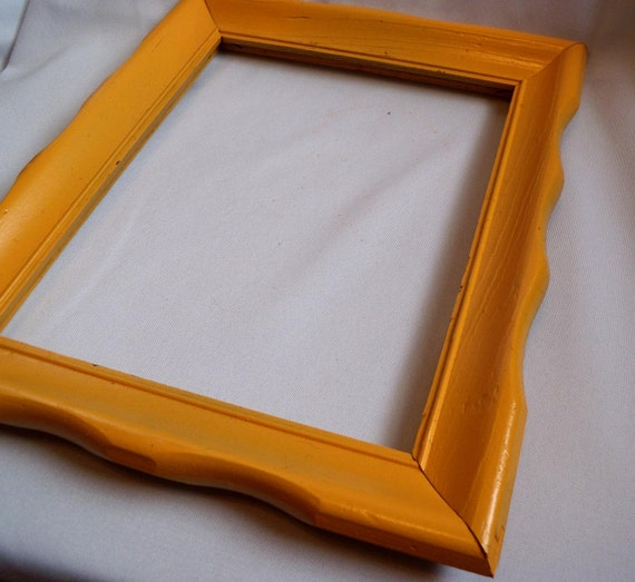 Thrifted Yellow 8x10 Frame