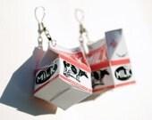 Milk Carton Earrings