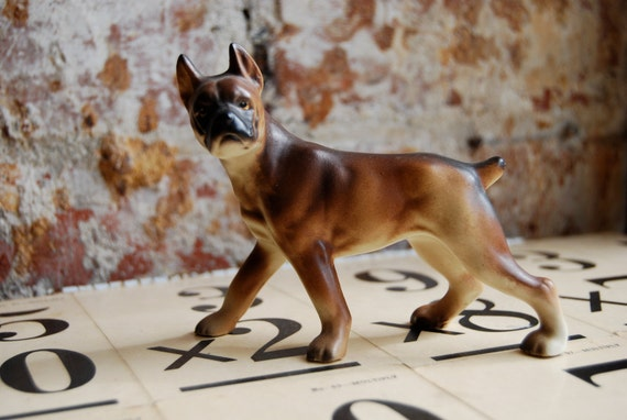 Vintage Boxer Dog Figurine made in Japan