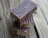 2 BARS coffee with real grounds (cold process soap)