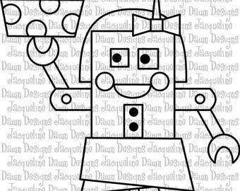 Digital Stamp - Rita Robot